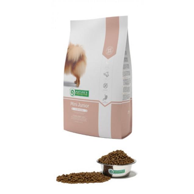 Mini Junior Natures protection корм для щенков малых пород.  Вес взрослой собаки 1-10 кг (2-10 месяцев)